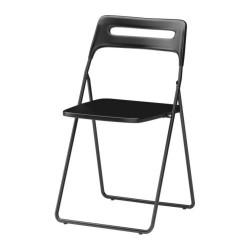chaise pliante noire location